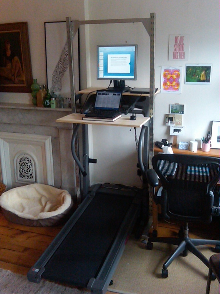 The DIY Treadmill Desk (Dogs and Shoes)